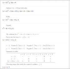 here s how symbolab solves quadratic inequality including the solution steps here