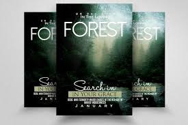 Party Flyer Custom Forest Party Flyer Template