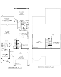 house plan c the azalea house plans loft over garage floor a ment attached schematic full