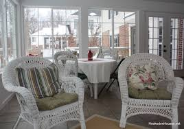 Image Comfortable Two Wicker Chairs Hooked On Houses My Sunroom Is Finally Finished Hooked On Houses