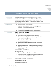 Creative Director Resume Samples And Templates Online