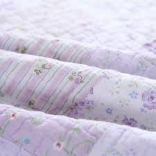 lilac purple lavender fl girls bedding twin full queen king patchwork shabby chic quilt set