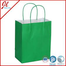 buy paper bags wholesale FAMU Online China Green Cheap Kraft Paper Bags with Twisted Handle China Jingli Jinhua of Paper and Plastic Packaging Ltd