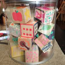 Have Baby Shower guests decorate wooden blocks with paint pens. 1 1/2 inch