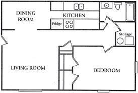 Exceptional Best One Bedroom Apartment Floor Plans With Bedroom Apartment 1 Bedrooms 1  0 Bathroom 29