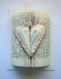 valentine heart book sculpture with sheets by yinsteadofi