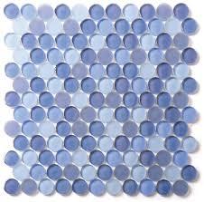 vogu circle glass mosaic tile