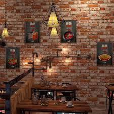 chinese style 3d retro antique culture red grey vintage brick wall coating tv bakcdrop wallpaper restaurant wall roll clothing wallpaper border wallpaper