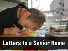 Act Of Kindness Letters To A Senior Home Pennies Of Time