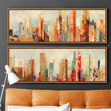 home office artwork. Urban Architecture Modern Abstract Painting Canvas Prints Wall Art Free  Shipping Decorative Artist For Home Office Artwork