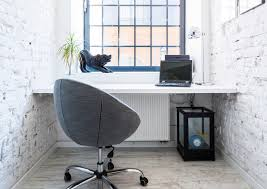 Home office white Minimal Small White Home Office With Window Home Stratosphere 45 Small Home Office Design Ideas photos