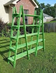 decorative ladder shelf double ladder shelf 6 ft wood ladder craft show display decorative ladder portable