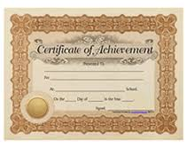 Free Printable Certificate Of Achievement Blank Templates