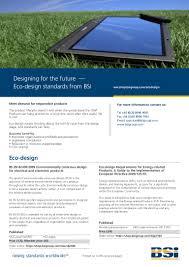 Eco Design Standards Eco Design