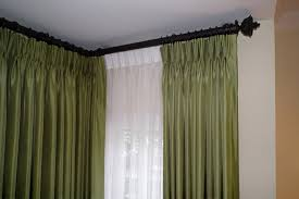corner curtain rods for bay windows