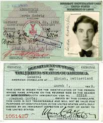 gerda lerner s green card front and back march 7 1939 courtesy of