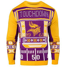 Minnesota Vikings Light Up Sweater Pin On Clothing Shoes Accessories