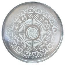 Rock Paper Flower Trays Silver Medallion Round Lacquer Tray New At The Hour Pinterest