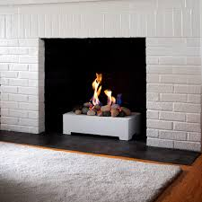 ... Gas Fireplace Contemporary Open Hearth Standing Gas Stones Vente  European Ventless Full Size