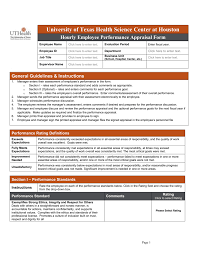 Employee Appraisal Form Casual Employee Appraisal Form The University Of Texas Health