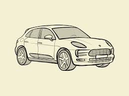New artwork by british illustrator guy allen aims to evoke nostalgia and create a social. Porsche Macan Outlines Drawing By Rt Design Studio On Dribbble