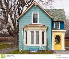 #BD8C0E Blue House With Bay Window Stock Photo Image: 40316055 Houses With Bay  Windows