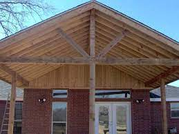 how to build a gable porch roof patio