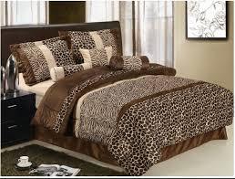 amazing idea leopard print comforter set full bed com black brown microfur in a bag size bedding