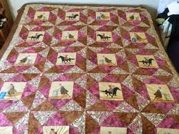 12 best Western Quilts images on Pinterest | Horse quilt, Queen ... & Custom Cowgirl Rodeo Events Quilt Western Print by Western Quilts, western  home decor, barrel Adamdwight.com