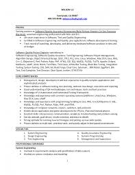Sample Resume For Qtp Automation Testing Study Manual Experience