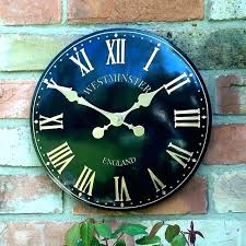 terracotta outdoor clock garden wall pool thermometer large rustic and gar terracotta clock and thermometer outdoor clocks garden astounding