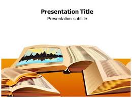 Powerpoint Background Book Open Book Ppt Powerpoint Template Free Open Book