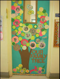 Classroom door decorations based on books