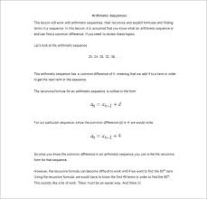 arithmetic sequence definition