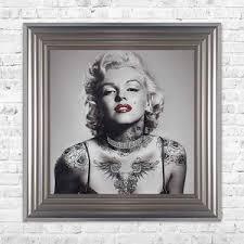swarovski crystals marilyn monroe liquid art tattoos biggon framed print artwork 68 x 68 on marilyn monroe tattoo wall art with products tagged liquid art thrift vintage interiors