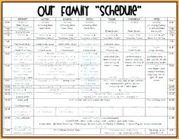 Summer Camp Daily Schedule Template Summer Camp Daily