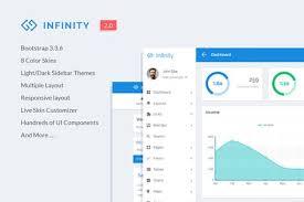 Infinity Responsive Web App Kit Admin App Application