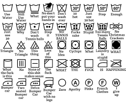 "Aaron Rothschild on Twitter: ""can you interpret washing instructions?  Thomas Byttebier - The best icon is a text label https://t.co/7fuFEY7MmN  https://t.co/cTs6gNnNsU"""