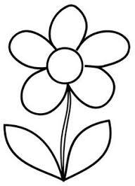 Simple Flower Coloring Page Cute Flower Stencil Designs