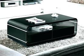 black high gloss coffee table with drawers perfect for interior decor white led