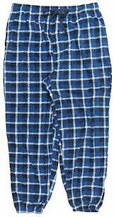 Performance Micro Fleece Pajama Pants Plaid Blue Mens Big