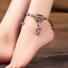 <b>Ethnic Style</b> Foot Pendant Antique Style Women's Longevity Locket ...