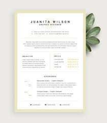 Clean Resume Template Free Design Resources For Resume Templates