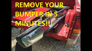 HOW TO REMOVE THE REAR BUMPER THE EASY WAY!!! 1999 - 2006 ...