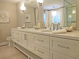 white bathroom vanities with drawers. Large White Wooden Bathroom Vanities With Drawers And Shelf Combined By Double Sink