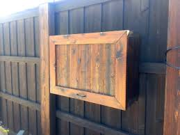 how to build an outdoor tv enclosure diy cabinet plans box