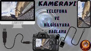 KAMERAYI( NİKON/CANON/SONY)TELEFONA VE BİLGİSAYARA BAĞLAMA/WEBCAM OLARAK  KULLANMA(KABLOLU) - YouTube