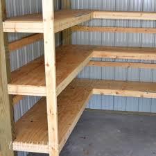 Building Corner Shelves Garden Shed Shelves 100 DIY Corner Shelves For Garage Or Pole Barn 97