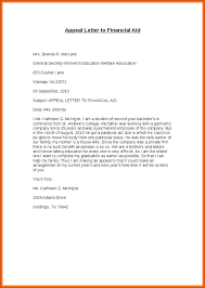 Appeal Letter Sample Best Example Of A Financial Aid Appeal Letter 44 Joele Barb