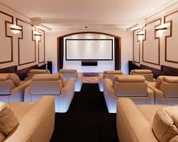 lighting for home theater. Example Of A Large Transitional Enclosed Carpeted And Black Floor Home Theater Design In Melbourne With Lighting For S